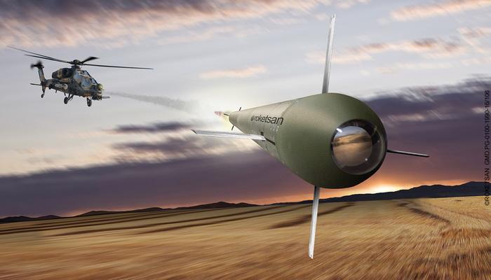 """""""روكيتسان"""" التركية تختبر بنجاح منظومة صواريخ موجهة بالليزر 775"""