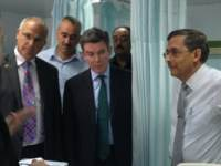 UK Minister Hugh Robertson at Tripoli Medical Centre to meet victims of the Gharghour atrocity  Read more: http://www.libyaherald.com/2013/11/19/zeidan-asks-for-quicker-visas-as-uk-minister-praises-gharghour-protestors