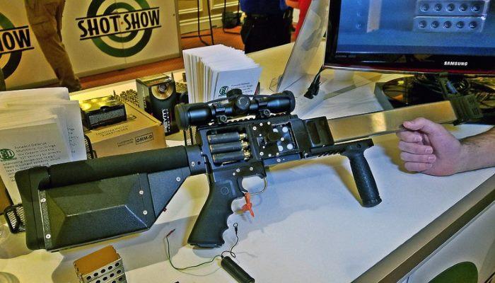 ribbon gun : بندقية فريدة تطلق 4 رصاصات دفعة واحدة. 100648